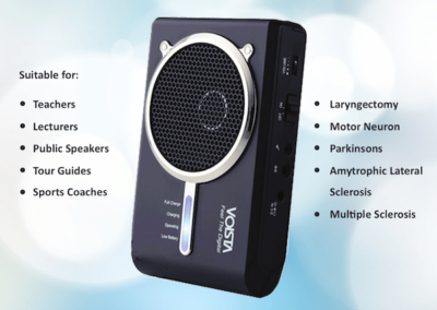 Voista Speech Amplifier Information Leaflet
