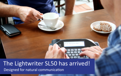 The Lightwriter SL50 has arrived!