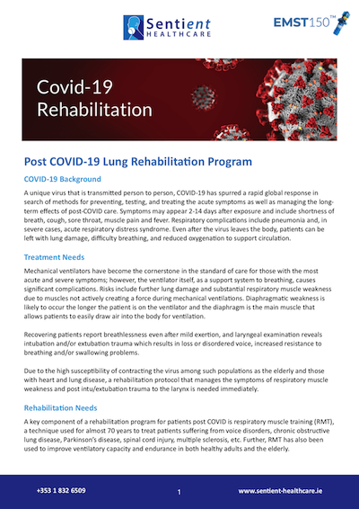 Covid-19 Lung Rehabilitation Download - EMST 150 - Sentient Healthcare