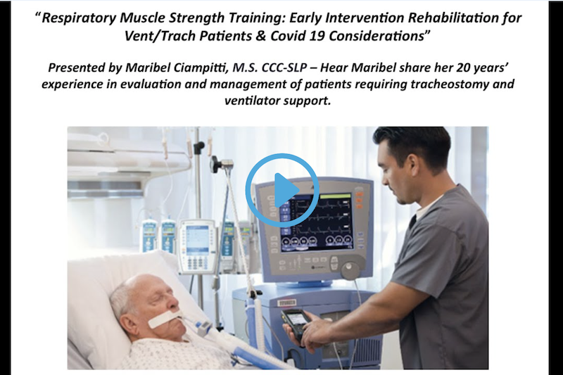 RMST - Early Intervention Rehab for Vent Trach Patients & Covid-19 considerations - Sentient Healthcare